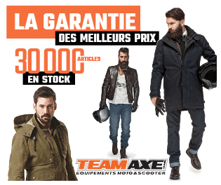 Teamaxe reduction promotions equipement motard