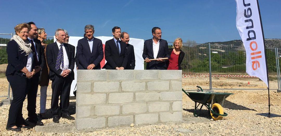 Allopneus pose la première pierre de l'entrepôt de Valence !