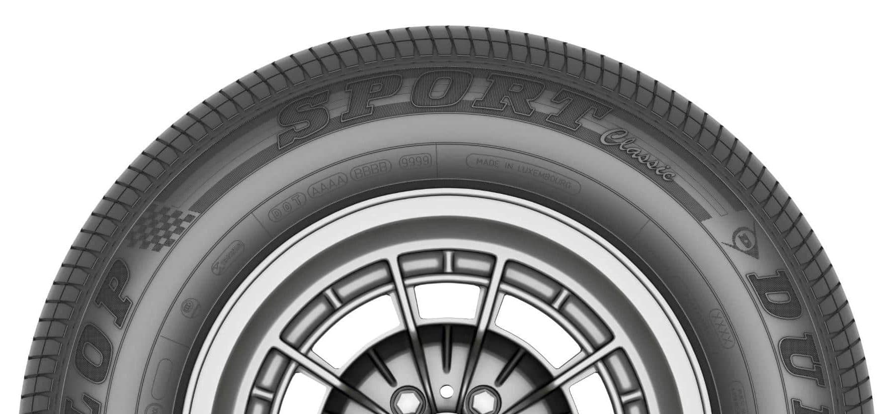 Pneumatique Dunlop pour les voitures vintage