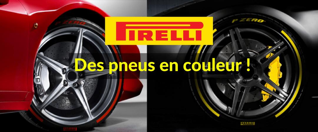 Les pneus P-Zero de Pirelli en couleur