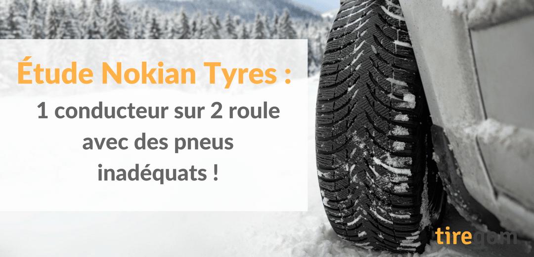 Étude réalisé par Nokian Tyres et l'Institut Ipsos sur l'utilisation des pneus en Europe