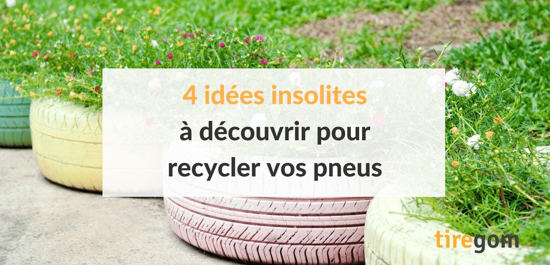 4 idées créatives pour recycler vos anciens pneus et en faire des objets de décoration