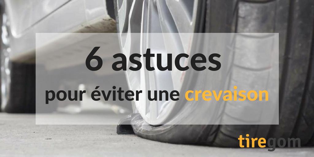6 astuces pneu creve