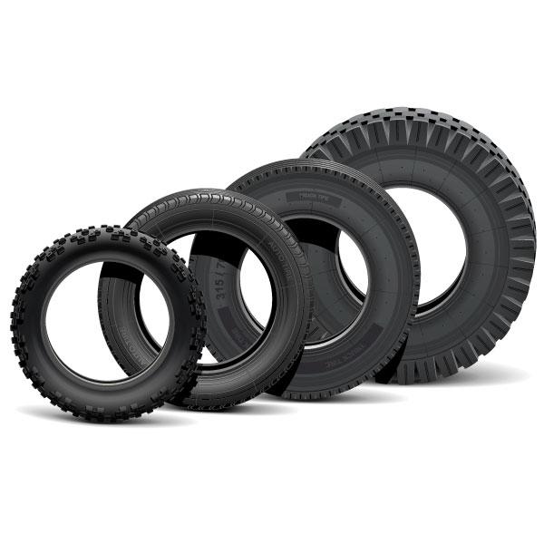 Les différents types de pneus