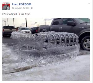 Pneu POPGOM sur Facebook