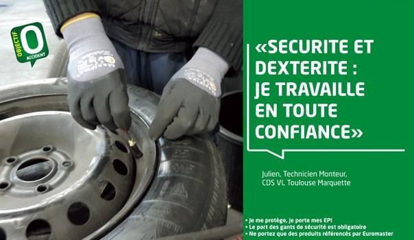 La sécurité au travail est indispensable pour Euromaster