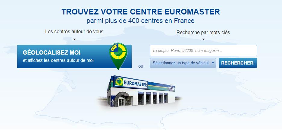 Trouver un garage Euromaster sur le site
