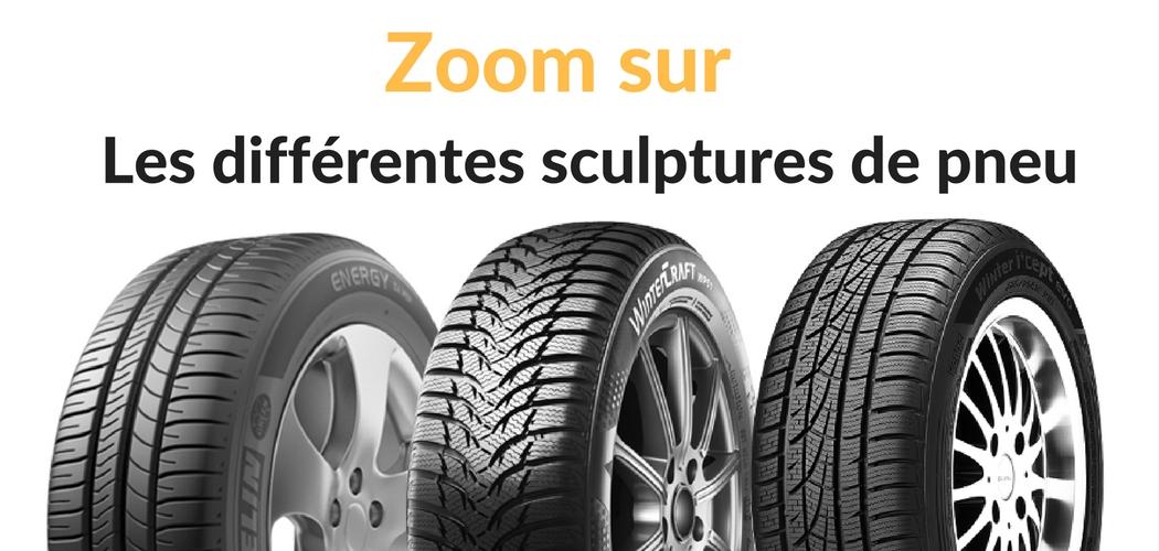 Les différentes sculptures ou bande de roulement de pneumatiques