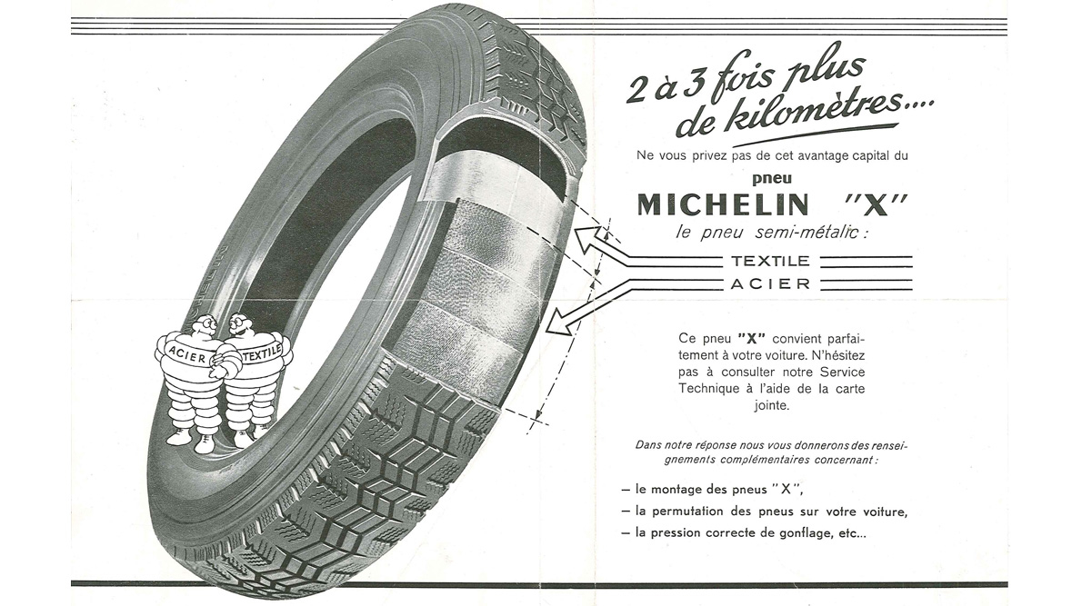Publicite pneumatique radial Michelin X