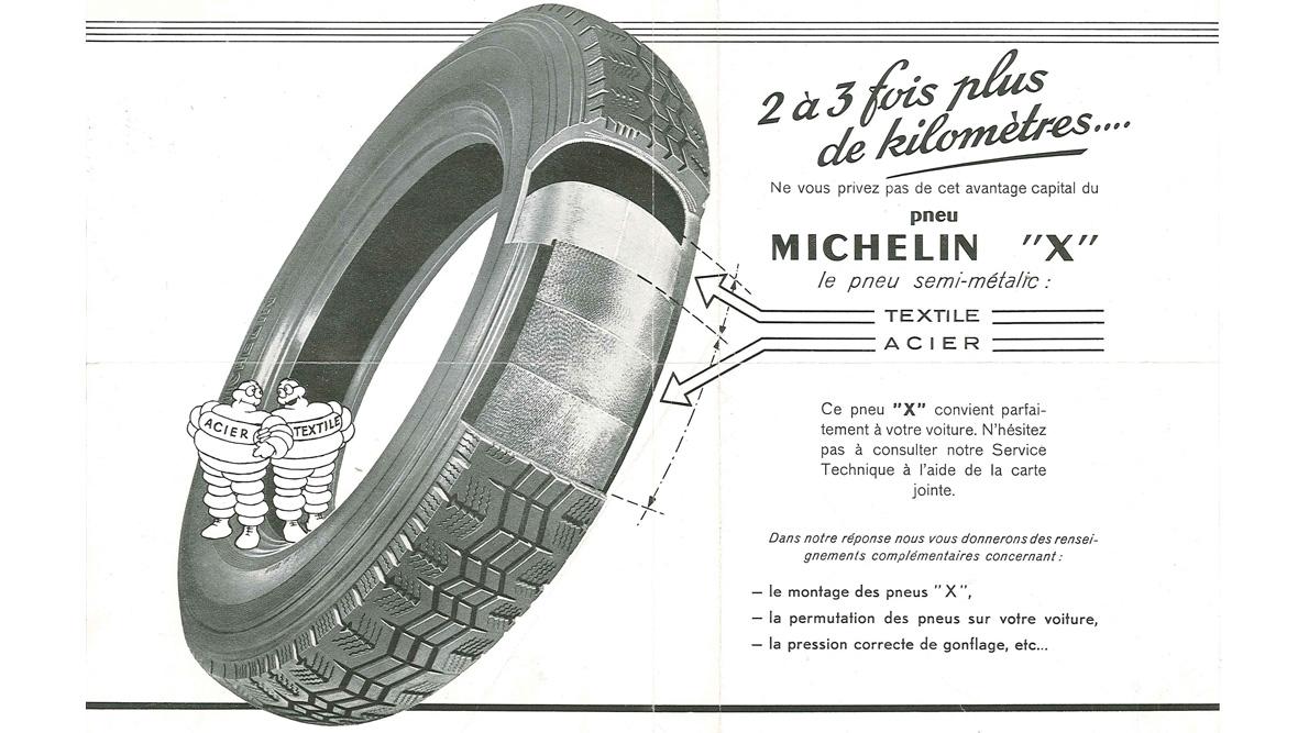 Publicite pneumatique radial Michelin X
