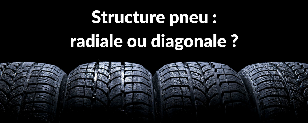 Structure pneu radiale ou diagonale