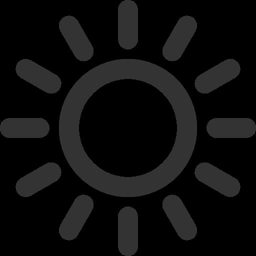 Icone soleil noir
