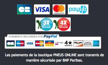 Comment payer chez Pneus Online