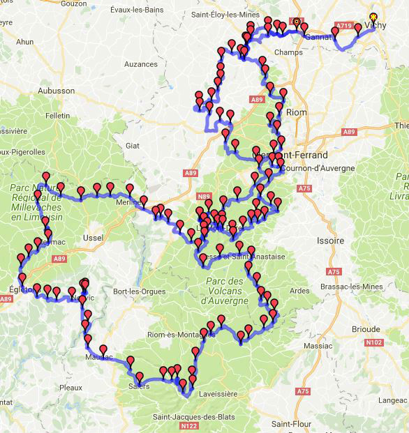 Roadbook roadtrip moto en Auvergne et Correze