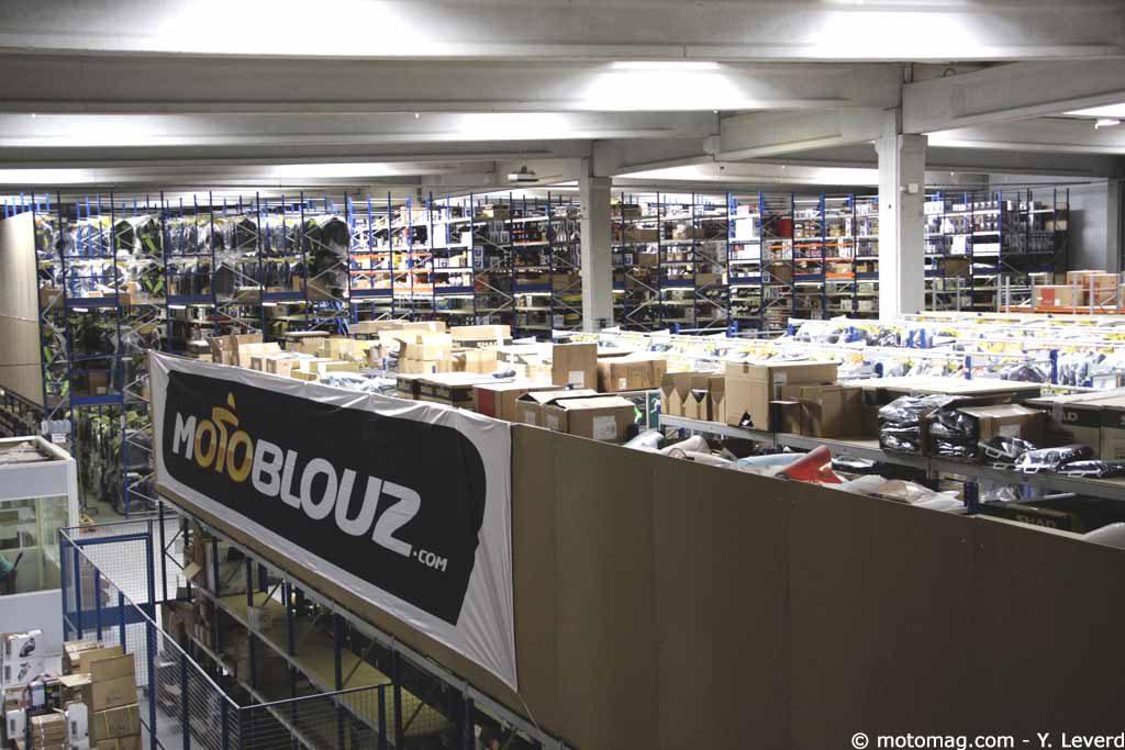 entrepot de l'entreprise motoblouz dans le Nord de la France, à Carvin