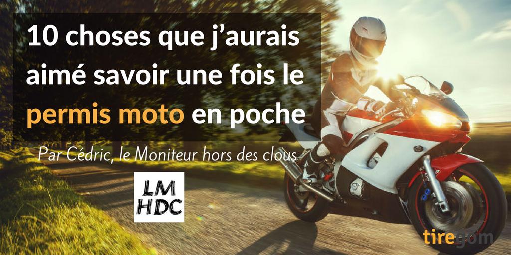Conseils jeune permis moto