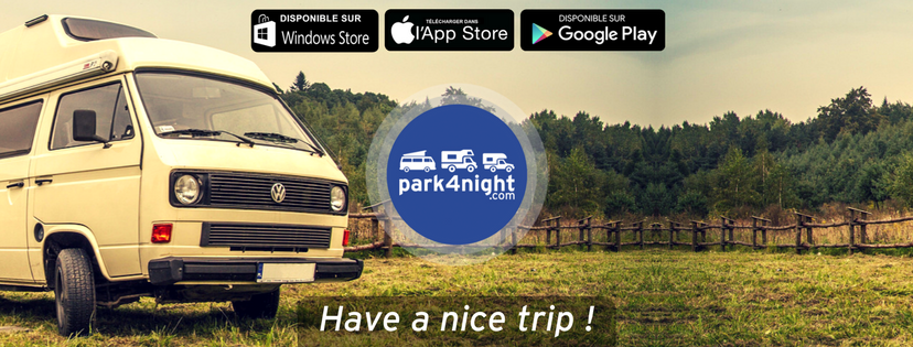 Application mobile pour motards park4night