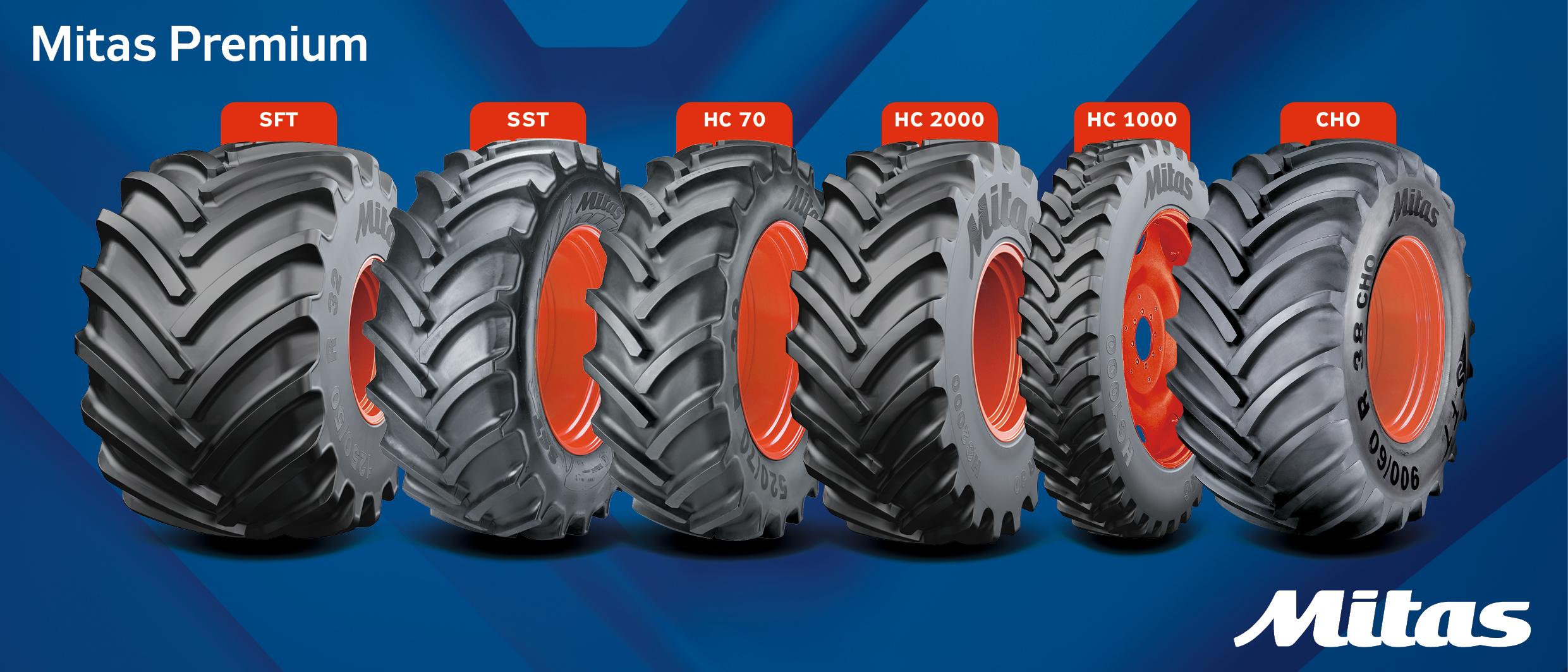 Les différents types de pneus agricoles chez Mitas