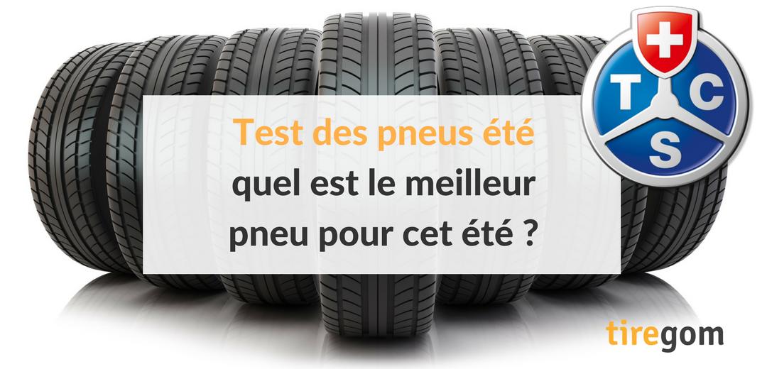 Test des pneus été par le TCS