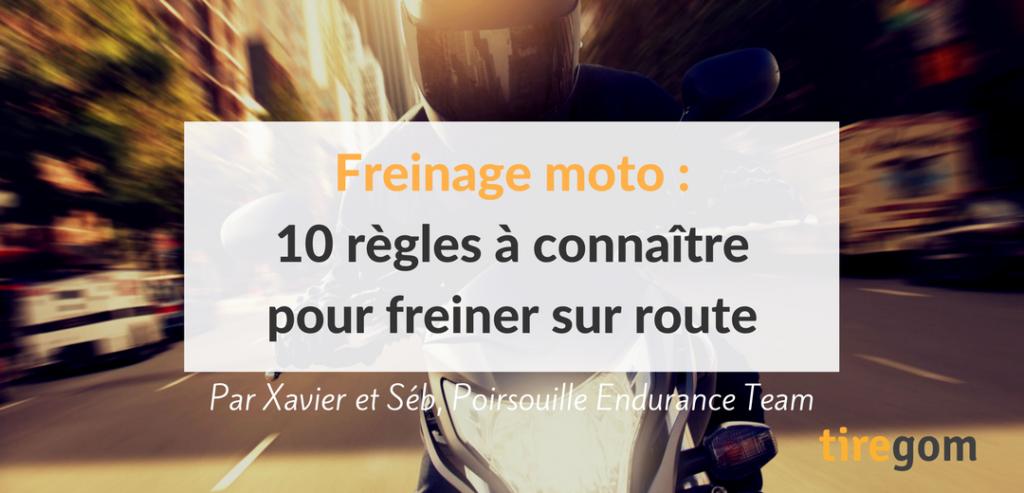 Conseils et astuces pour freiner à moto ou en scooter