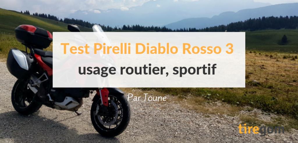 Essai, test, comparatif du pneu moto Pirelli Diablo Rosso 3