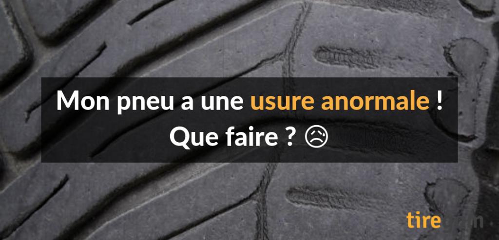 Usure irrégulière pneu