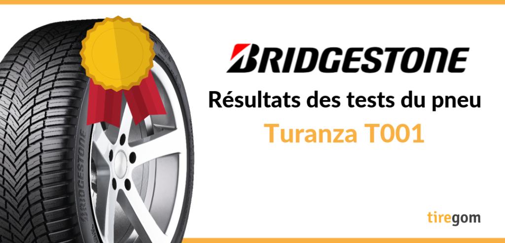Essai comparatif pneu Turanza T001 de Bridgestone