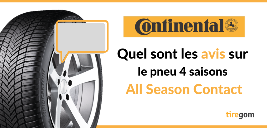 Témoignage client pneu 4 saisons continental All Season Contact