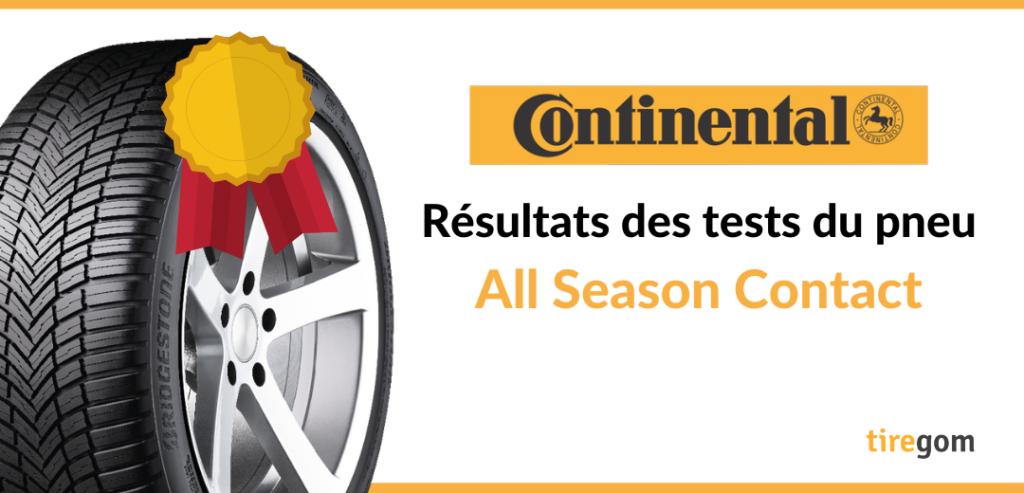 Essai comparatif pneu 4 saisons Continental All Season Contact