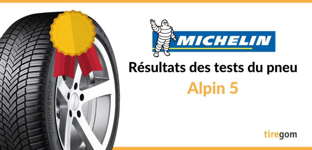 Essai comparatif pneu neige Michelin Alpin 5