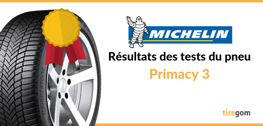 Test et essai comparatif du pneu Primacy 3