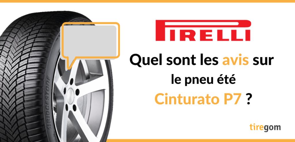 Témoignage consommateur pneu Pirelli Cinturato P7