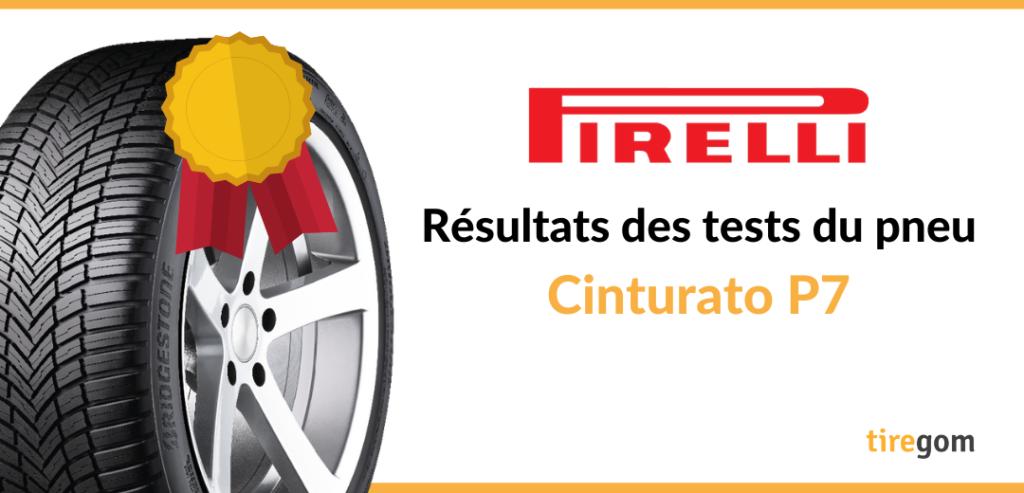 Essai comparatif Pirelli Cinturato P7