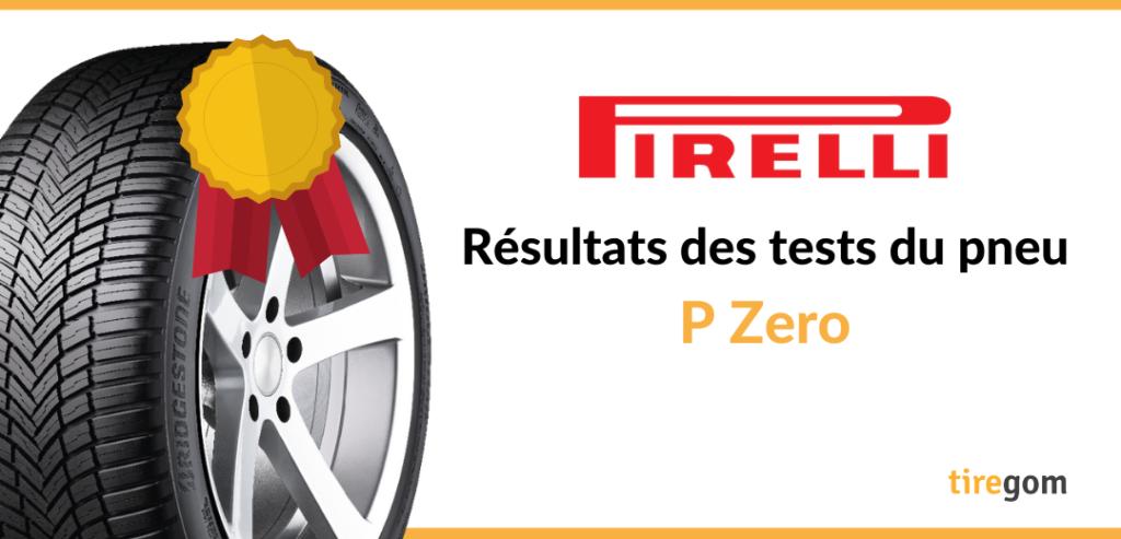 Essai comparatif du pneu Pirelli P Zero