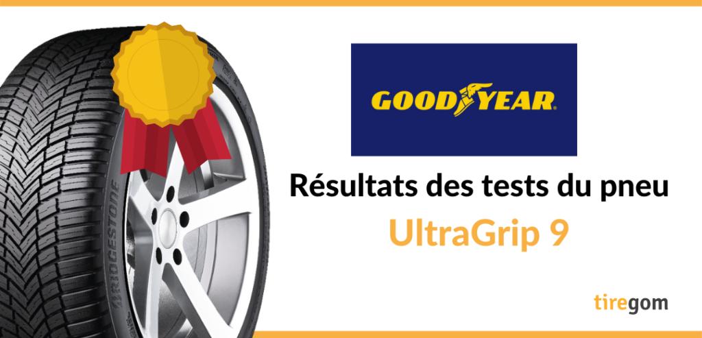 Essai comparatif Goodyear UltraGrip 9