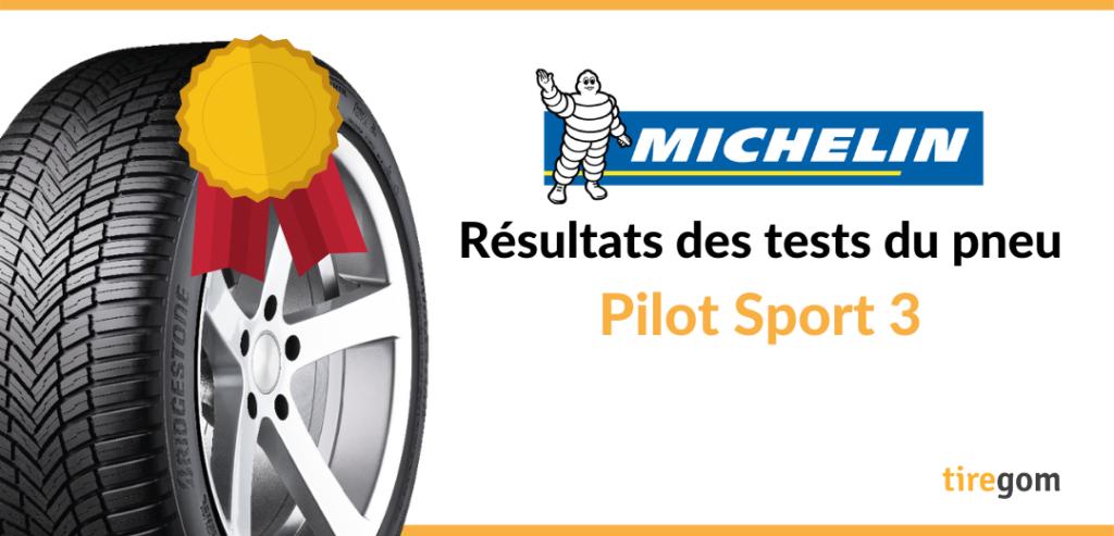 Essai comparatif Michelin Pilot Sport 3