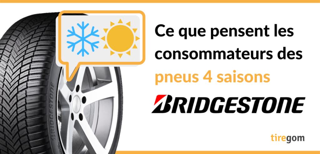 Témoignage client pneu 4 saisons Bridgestone